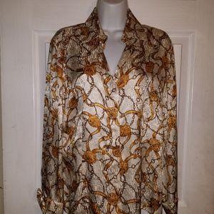 Jones New York Collection STUNNING Silk BLouse